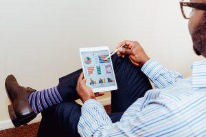 Tracking Finances on Tablet